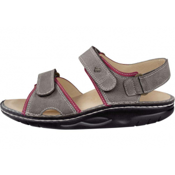 FINN COMFORT Sandale Finnamic Gris/Sandia chaussant large