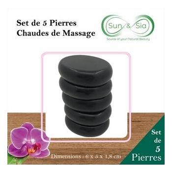 Set de 5 Pierres Chaudes de Massage