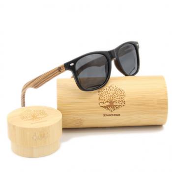 Lunettes de soleil unisexe en bois polarisées UV400 - Montures bois fait main