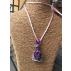 Pendentif Alchimie Agate mousse violette