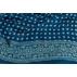 Carré  90 cm BLEU et POIS Pigments naturels / Collection Inoubliable Caresse