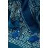 Grand Carré  110 cm BLEU et POIS Pigments naturels / Collection Inoubliable Caresse