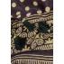 Carré  90 cm NOIR, SABLE et POIS Pigments naturels / Collection Inoubliable Caresse
