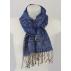 Écharpe en soie - Bleu marine