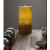 Bougie fontaine aquazen 13 cm cire brossée couleur miel