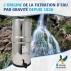 Berkefeld 4 purificateur d'eau à gravité BRITISH BERKEFELD équipé de 4 cartouches ATC SuperSterasyl