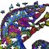 Puzzle en Bois Pour Adultes et Enfants, Puzzles en pièces d'animaux de forme unique, casse-tête en bois