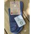 Lot de 2 paires de chaussettes courtes coton bio bleue
