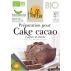 HEOLBIO préparation bio pour cake au cacao et pépites de chocolat