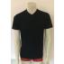 T-shirt Homme manches courtes col V NOIR en pure laine mérinos COOLMAN