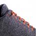 Baskets SNEAKERS 100% laine Urban Wooler GRIS lacets orange unisexe