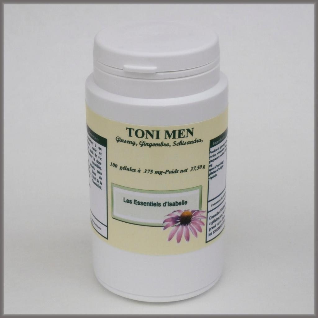 Toni Men - Ginseng, Gingembre, Schisandra 100 Gélules À 375 Mg